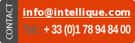 Contact information: +33 1 78 94 84 00 email info (at) intellique (dot) com